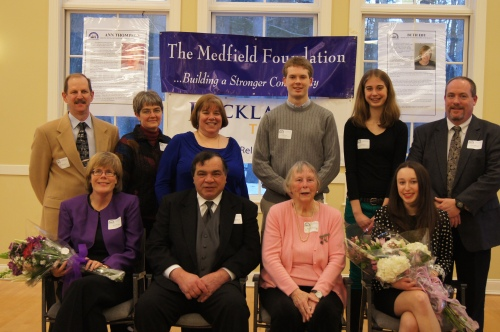 2013 Medfield Foundation volunteers of the year at the reception on 3/10/13 at The Center