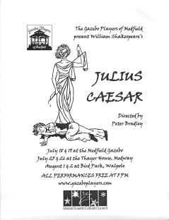 Medfield Gazebo Players' Julius Caesar