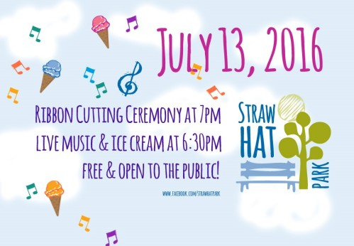 Straw Hat Park opening invite