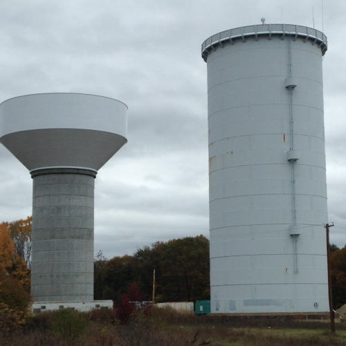 water towers at MSH