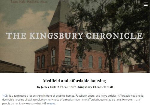 kingsbury chronicle 40b article