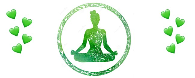 green yoga and hearts